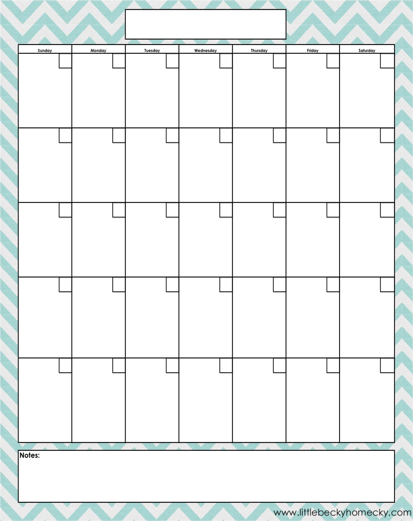 Free Printable Blank Monthly Calendar Templates | Free in Blank 12 Month Calendar