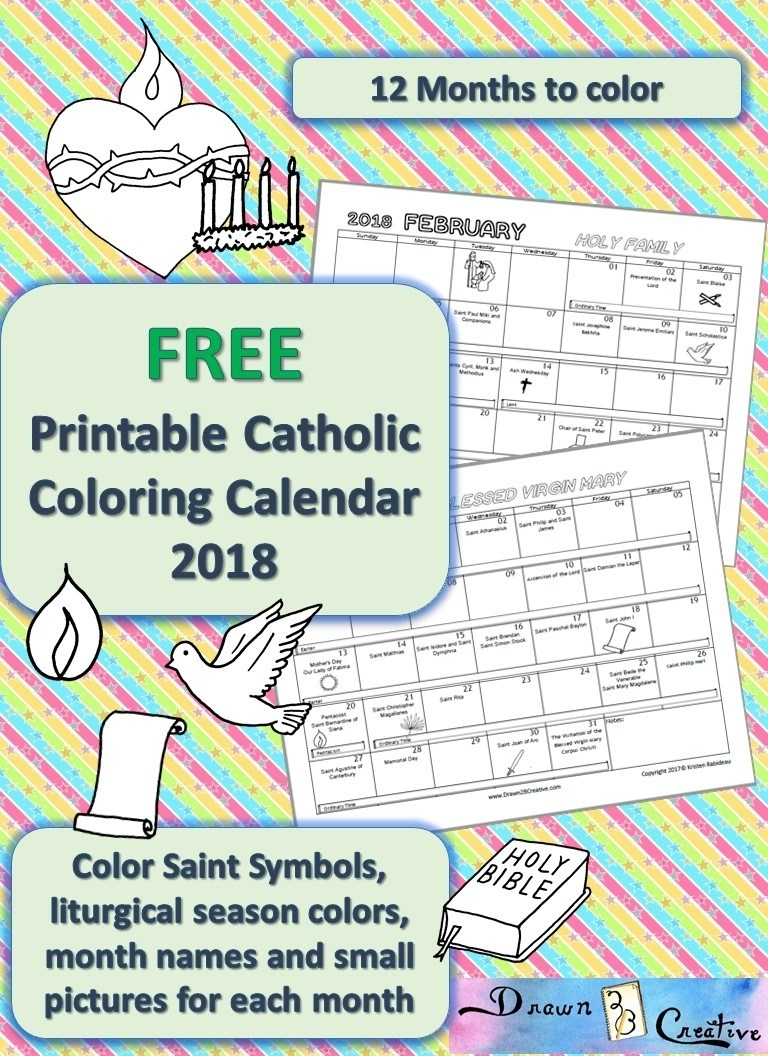 Free Printable Catholic Liturgical Calendar  Calendar for Printable Catholic Liturgical Calendar