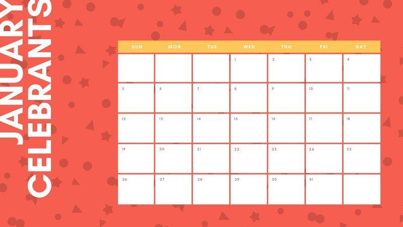 Free, Printable, Customizable Birthday Calendar Templates within Birthday Calendar Template For Classroom