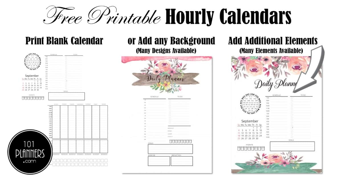 Free Printable Hourly Planner  Daily, Weekly Or Monthly within Weekly Hourly Planner Free Printable