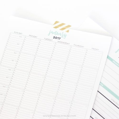 Free Printables Archives  Page 12 Of 63  Printable Crush regarding Most Goals In A Calendar Year