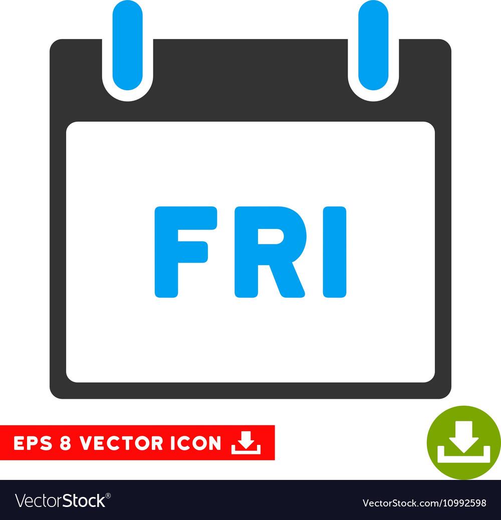 Friday Calendar Page Eps Icon Royalty Free Vector Image in Google Calendar Icon Vector