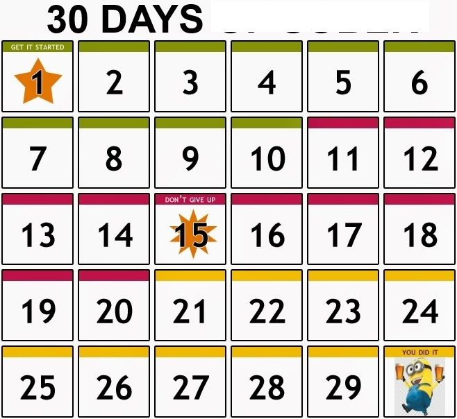 Get 30 Day Calendar Blank Printable Template Pdf Download inside 30 Day Calendar Template