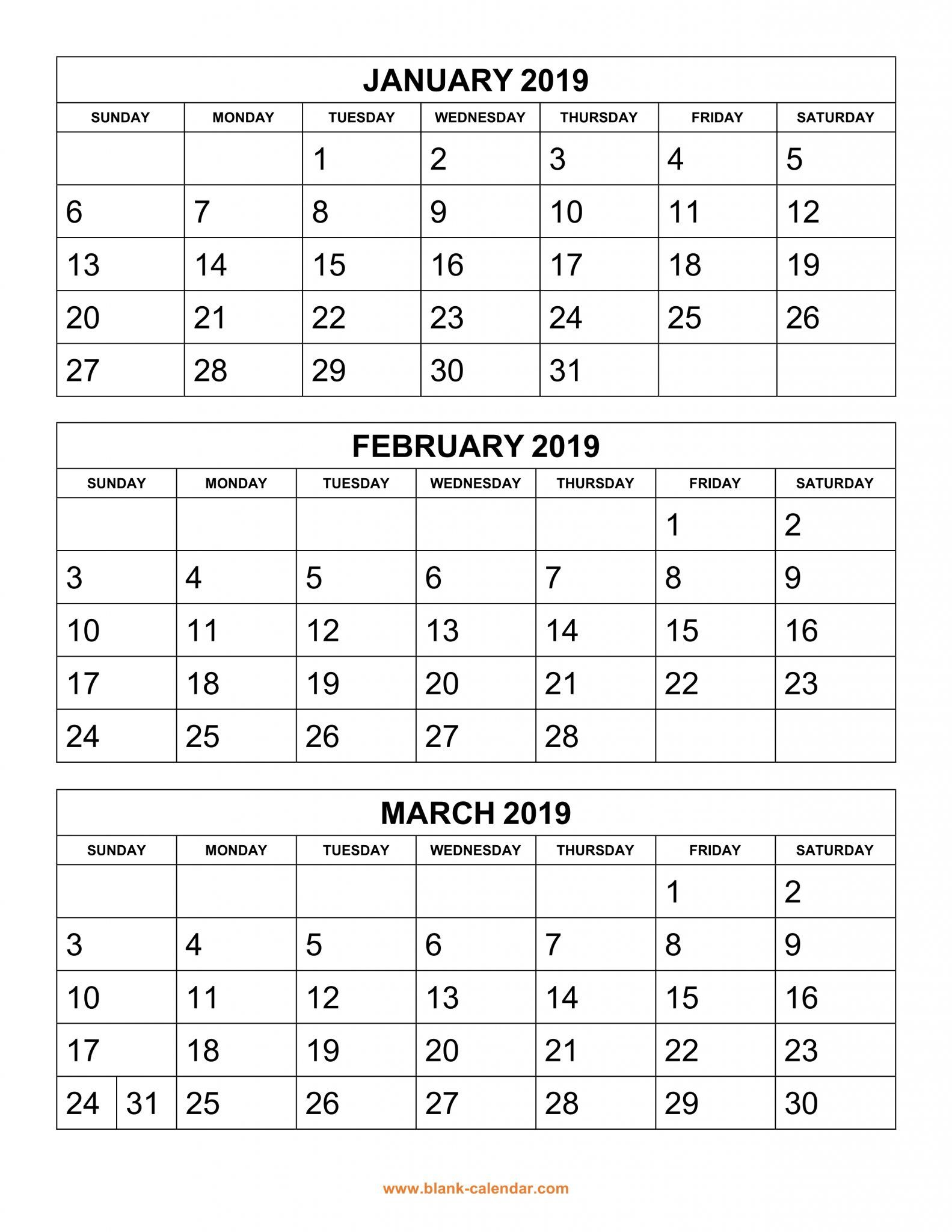 Get Free 2019 3 Month Calendar Templates Printable with 3 Month Printed A3 Calendar 2021