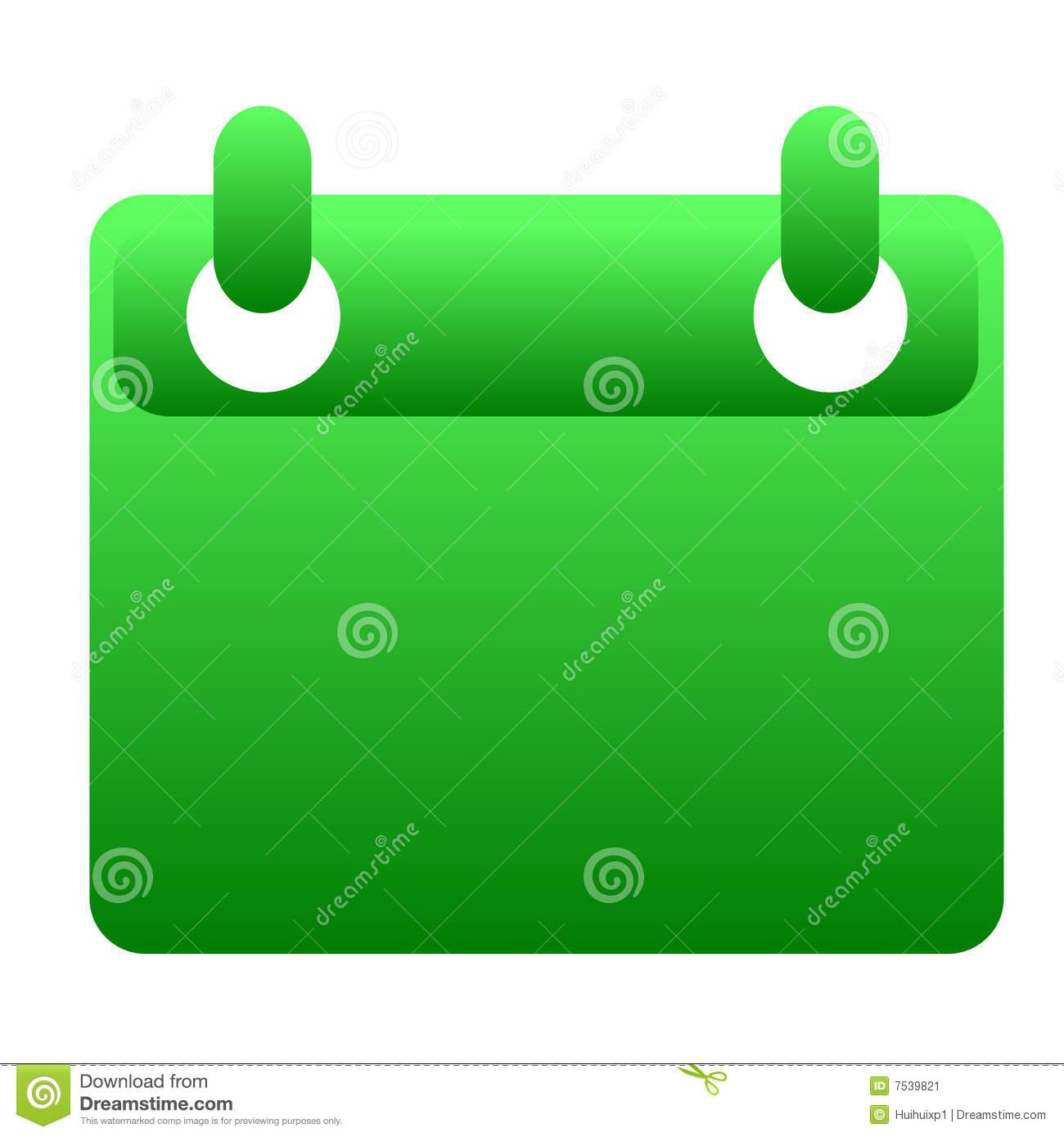 Glassy Green Calendar Icon Stock Illustration with Calendar Icon Green