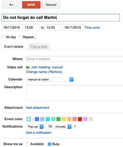 Google Calendar: Show Me As Available  Vyte  Scheduling inside Add Image To Google Calendar Event