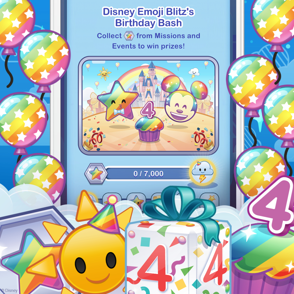 Happy 4Th Anniversary Disney Emoji Blitz!  Disney Emoji for Disney Emoji Blitz Event Calendar