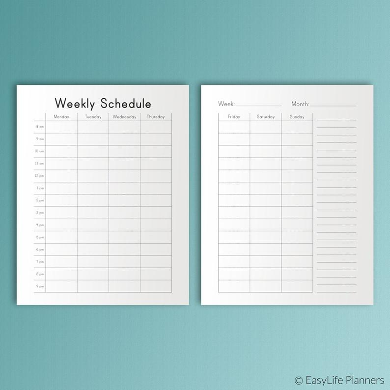 Happy Planner Hourly Weekly Schedule Printable Pdf Mambi with regard to Hourly Planner Pdf