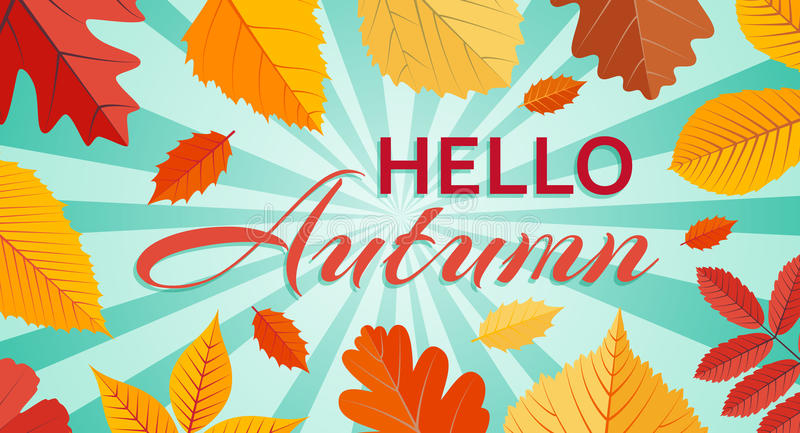 Hello Autumn Goodbye Summer Background Template With with Goodbye Summer Hello Fall Wallpaper