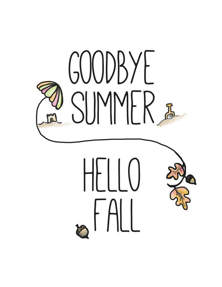 Hello Fall Free Printable | Hello Autumn, Goodbye Summer intended for Goodbye Summer Hello Fall Wallpaper