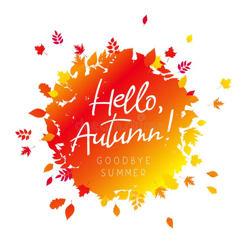 Hello October. The Trend Calligraphy. Stock Vector inside Goodbye Summer Hello Fall Wallpaper