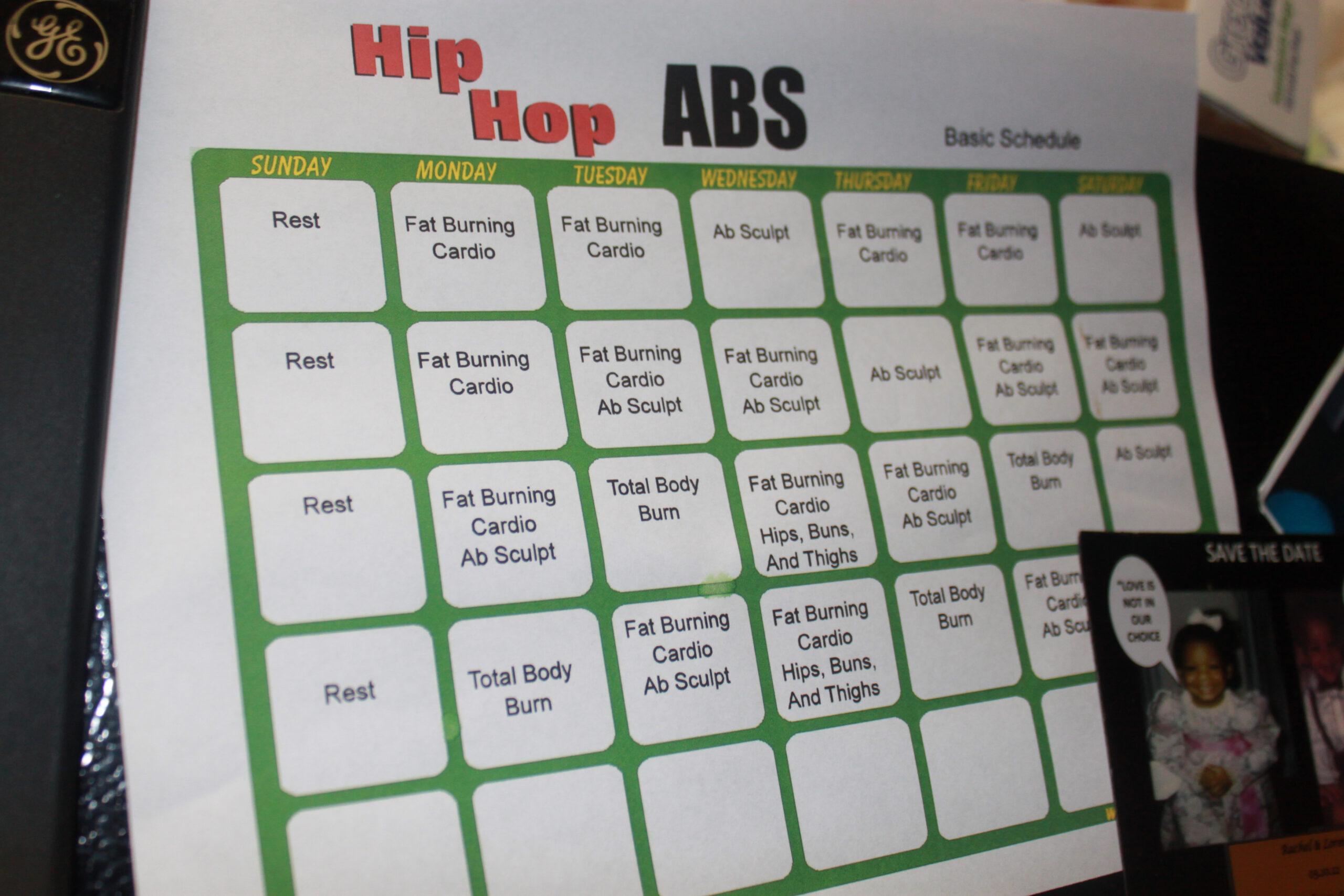 Hip Hop Abs Calendar | Calendar For Planning with regard to Hip Hop Abs Schedule