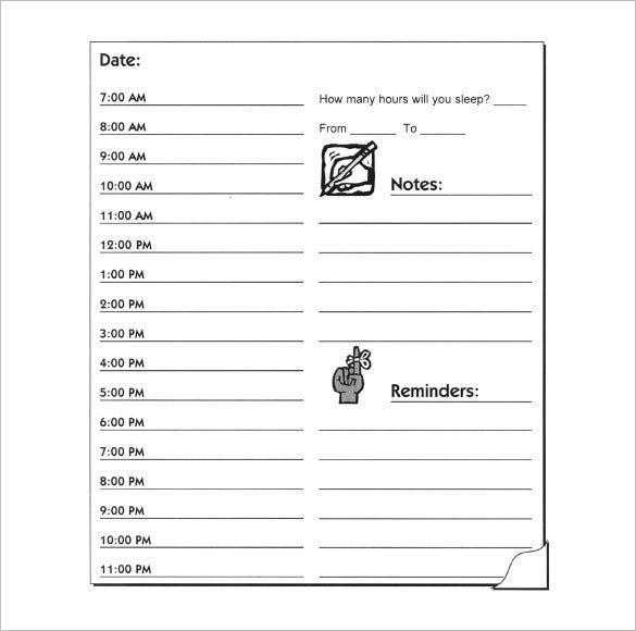 Hourly Schedule Template  34+ Free Word, Excel, Pdf inside Weekly Hourly Planner Free Printable