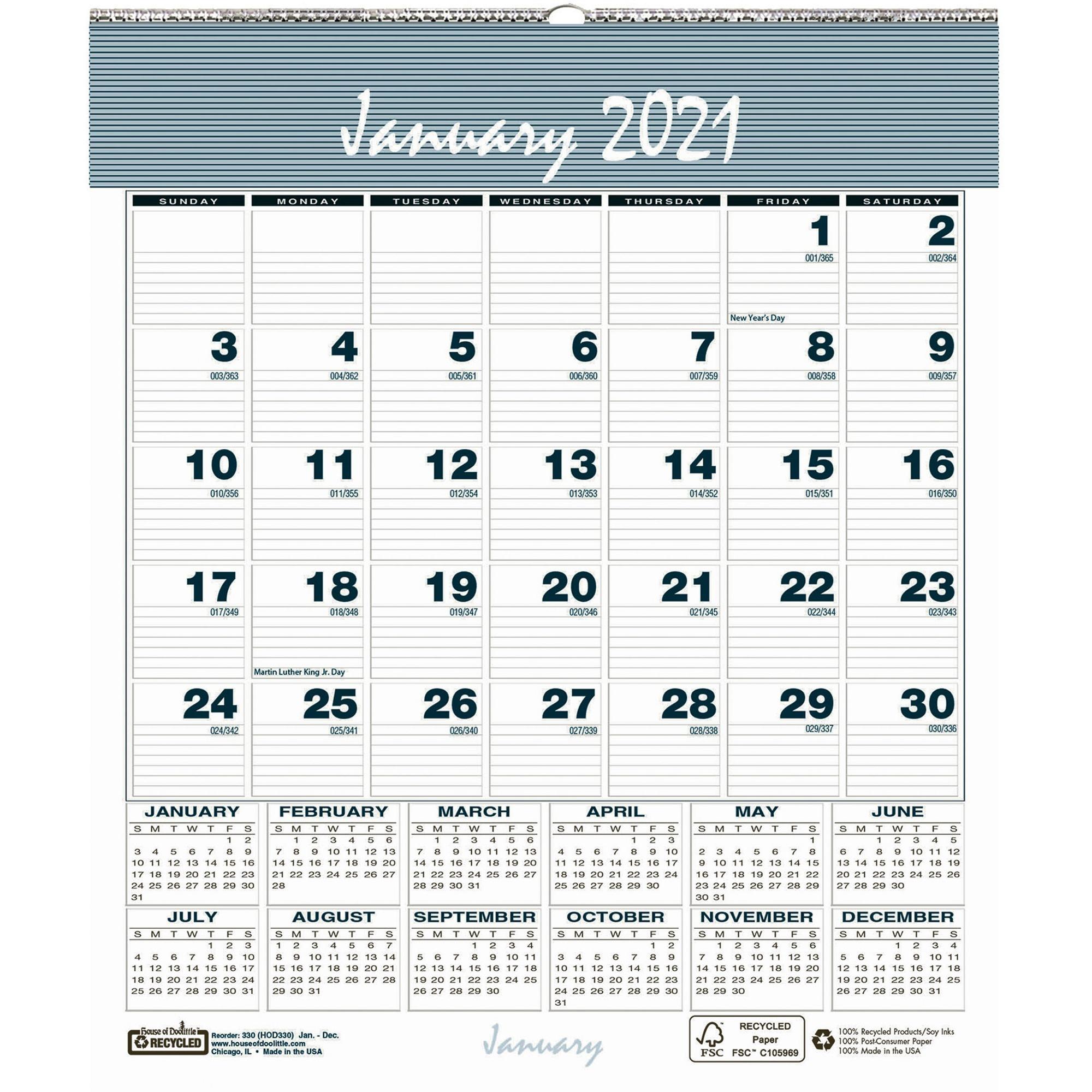 House Of Doolittle Bar Harbor Monthly Wall Calendar inside 2021 Yearly Julian Calendar