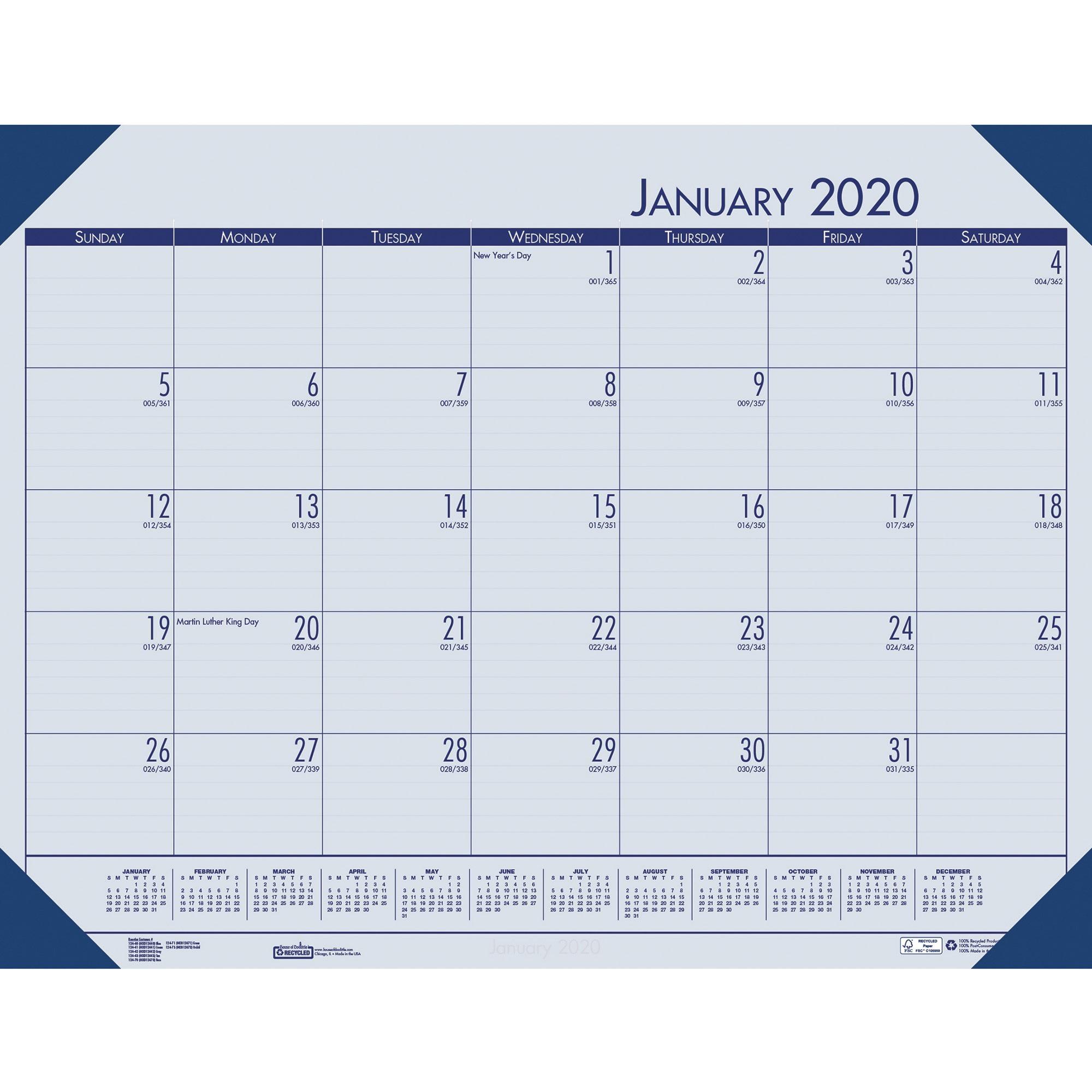 House Of Doolittle Ecotones Compact Calendar Desk Pads throughout 2021 Yearly Julian Calendar