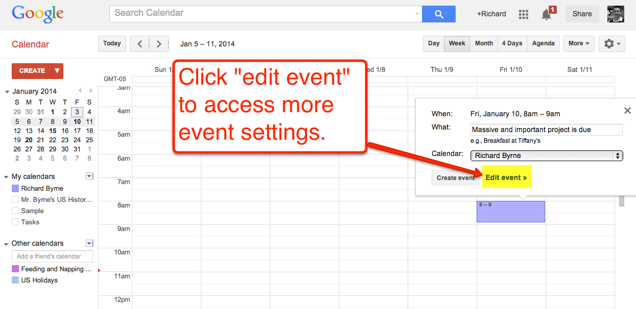 How To Create Google Calendar Event Reminders  Tech inside Add Image To Google Calendar Event