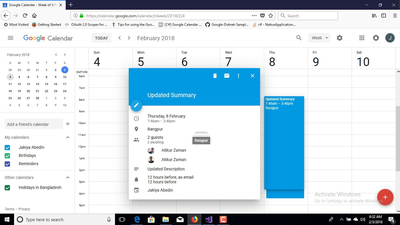 How To Insert, Update And Delete Google Calendar Event for Add Image To Google Calendar Event