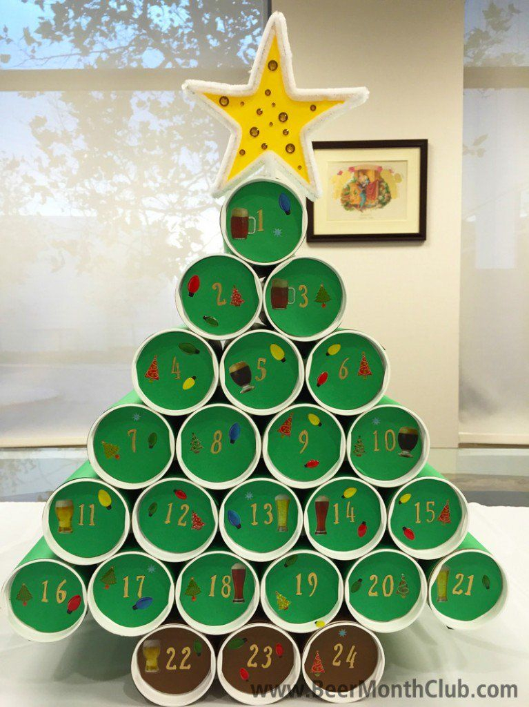 How To Make A Diy Craft Beer Advent Calendar  Craft Beer regarding Jennifer Maker Advent Tree