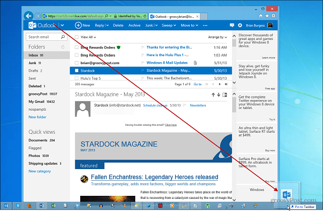How To Pin Outlook To The Windows Taskbar in Outlook Calendar Icon Missing