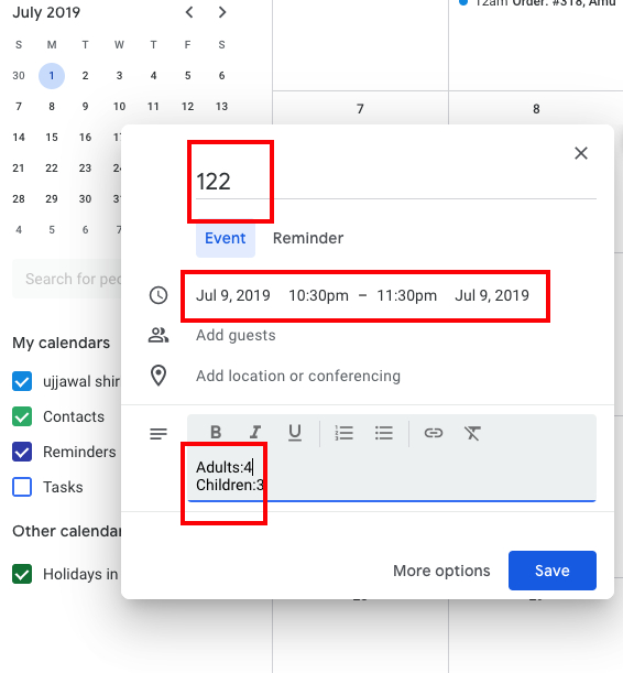 How To Use 2 Way Google Calendar Sync With Woocommerce with regard to Add Image To Google Calendar Event