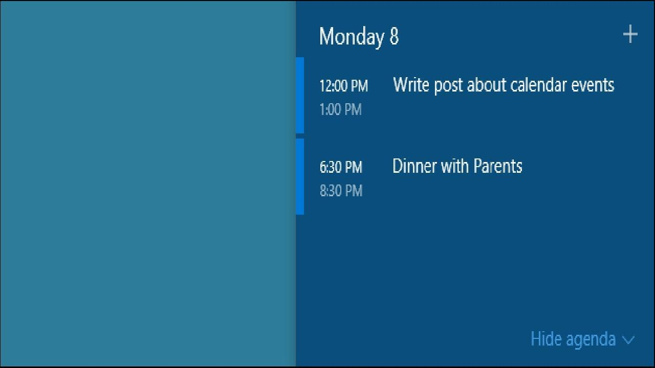 How To View And Add Calendar Events From The Windows 10 pertaining to Google Calendar Taskbar