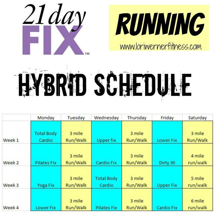 Hybrid Schedules  Lori Werner Fitness | 21 Day Fix inside Piyo 21 Day Fix Hybrid Calendar