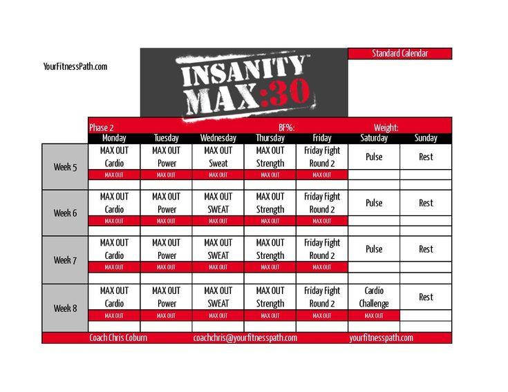 Impressive Insanity Max 30 Printable Calendar In 2020 pertaining to Calendar Insanity Max 30
