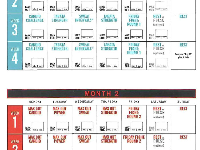 Insanity Max 30 Calendar Pdf | Calendar For Planning intended for Printable Insanity Max 30 Calendar