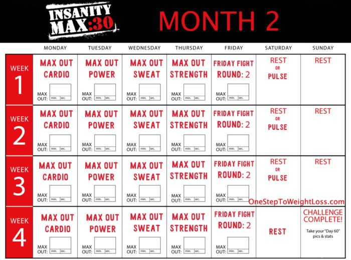 Insanity Max 30 Workouts Online | Blog Dandk within Printable Insanity Max 30 Calendar