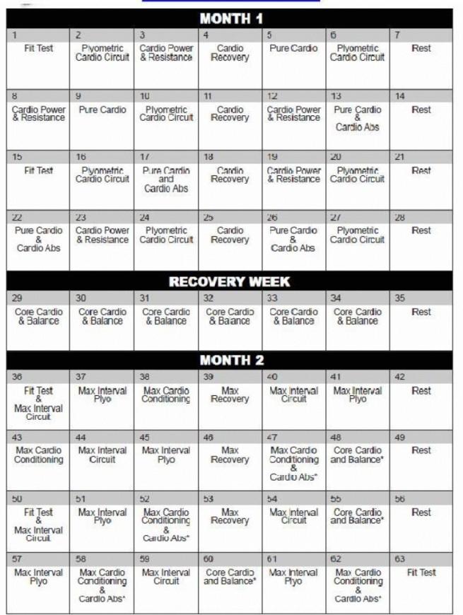 Insanity Template  Carlynstudio with regard to Printable Insanity Max 30 Calendar
