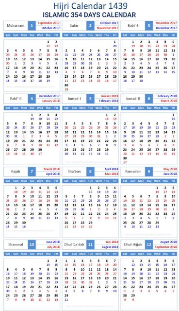 Islamic Calendar 2018 | Hijri 1439 Templates  2020 pertaining to Islamic Calendar Date Today In Pakistan