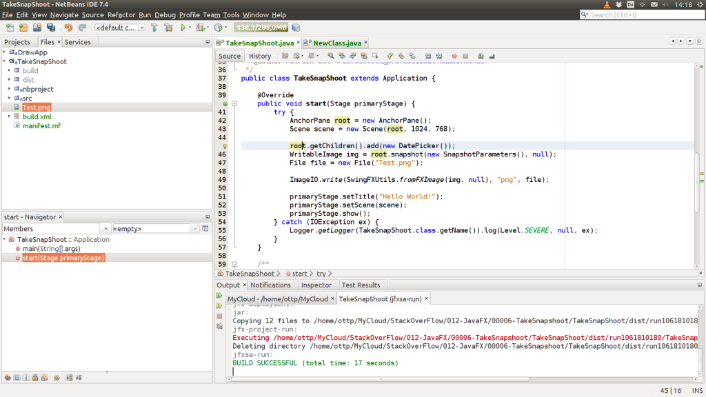 Javafx: Take A Snapshot Of The Nodes' Content  Das Java intended for Datepicker In Java Swing