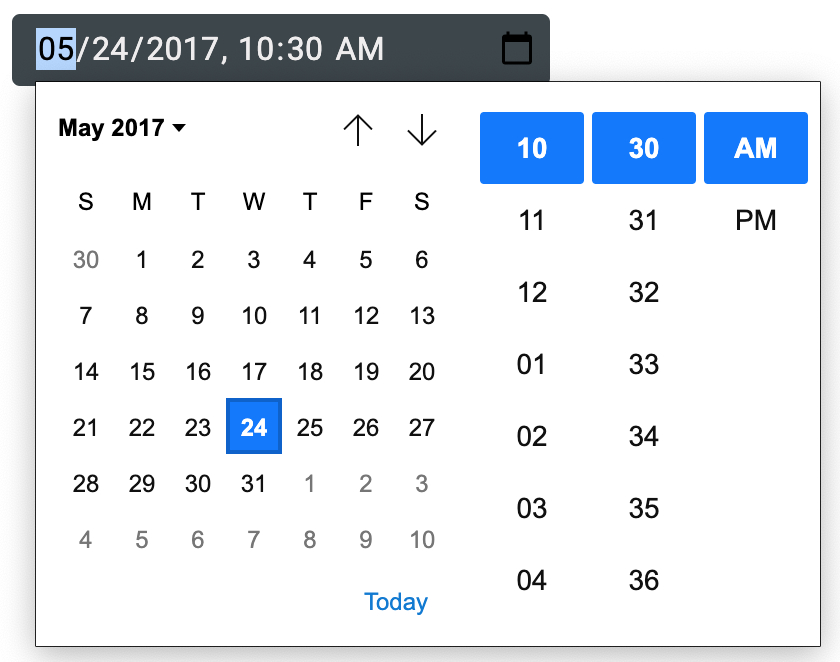 Javascript  Style Material Ui Inputbase With Date & Time regarding Calendar Icon Material Ui