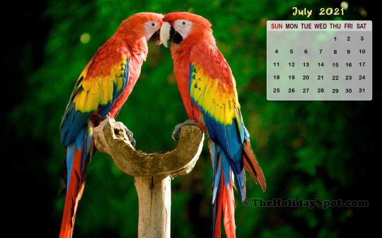 July 2021 Calendar Wallpaper  800X480 in Khmer Calendar 2021 Wallpaper