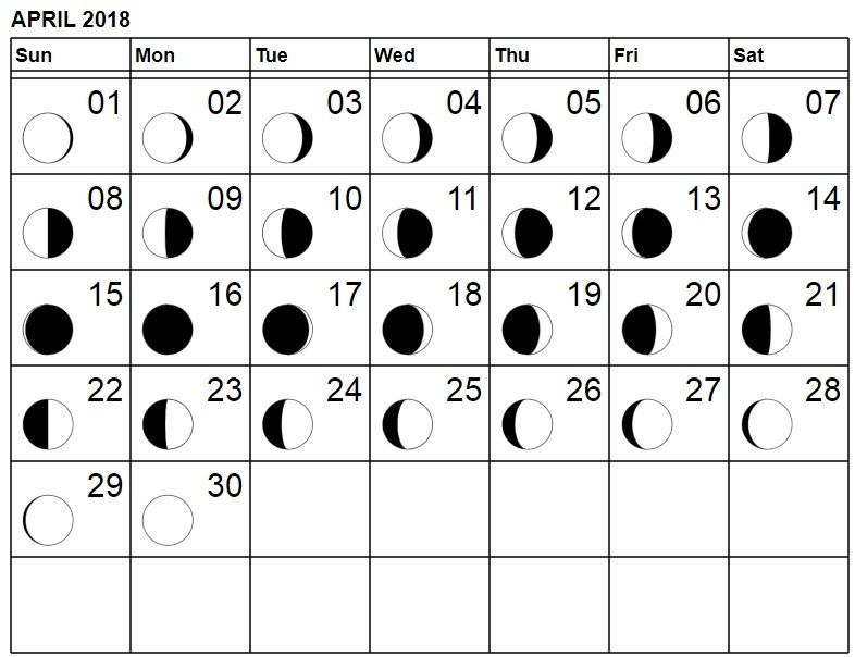 Lunar Phases Moon 2018 April | Moon Phases, Lunar Calendar regarding Lunar Calendar For Cockfighting 2018
