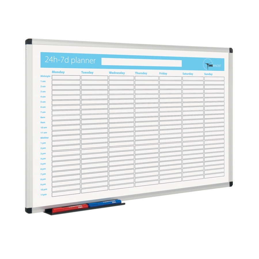 Magnetic Whiteboard Planner  24 Hour  7 Day Planner within Printed Planner Whiteboards