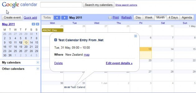 Managing Google Calendar Events Using   Codeproject with regard to Add Image To Google Calendar Event