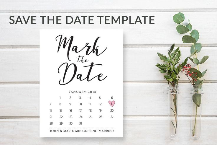 Mark The Date Calendar Card Template | Calligraphy Save with regard to Please Save The Date In Your Calendar