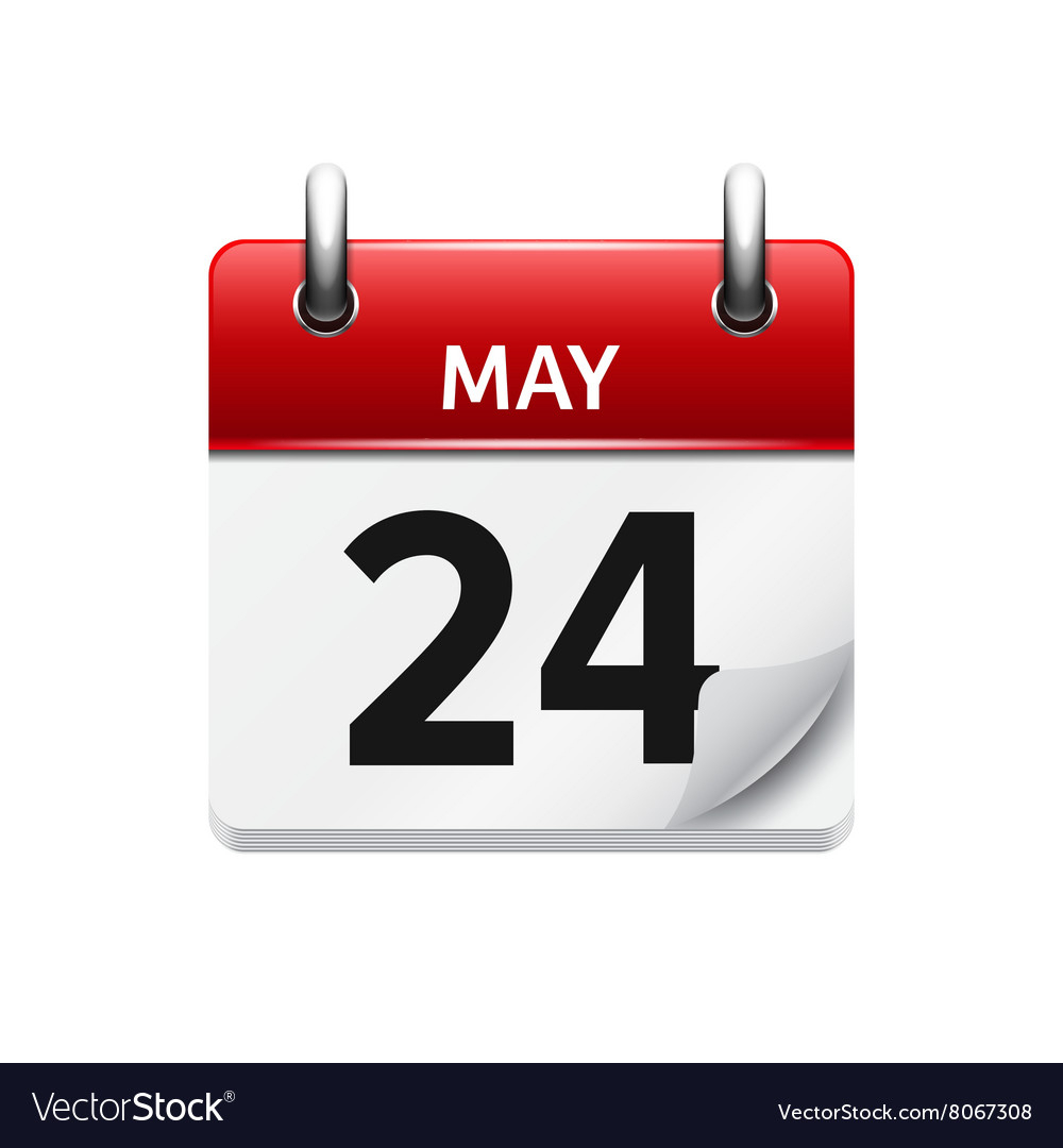 May 24 Flat Daily Calendar Icon Date And Vector Image throughout Google Calendar Icon Vector