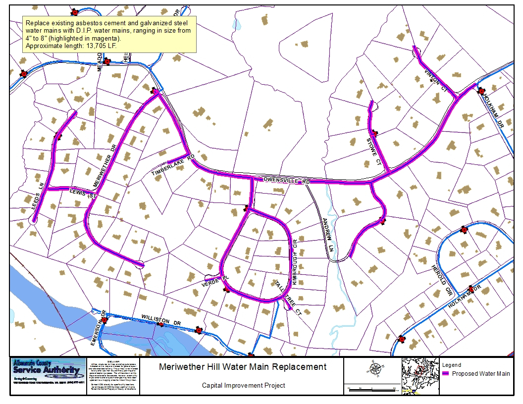 Meriwether Hill Water Main Replacement  Albemarle County intended for Albemarle County Calendar