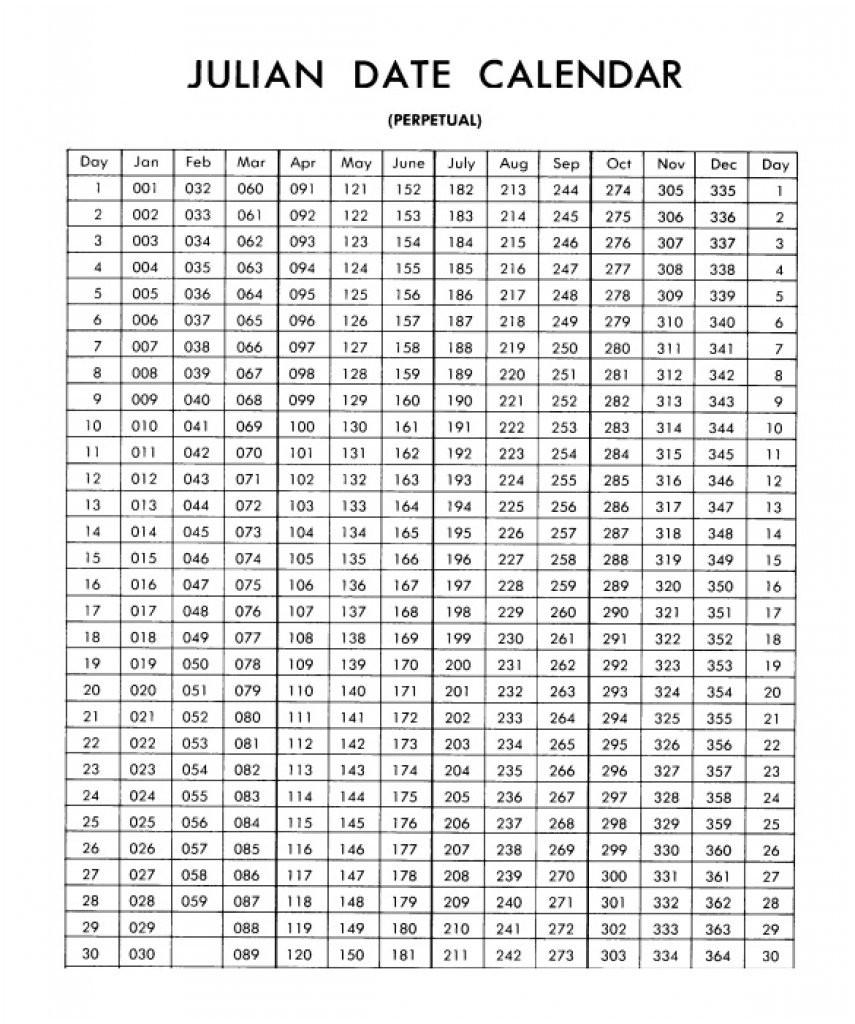 Military Julian Date Calendar  Template Calendar Design throughout Leap Year Julian Date Calendar