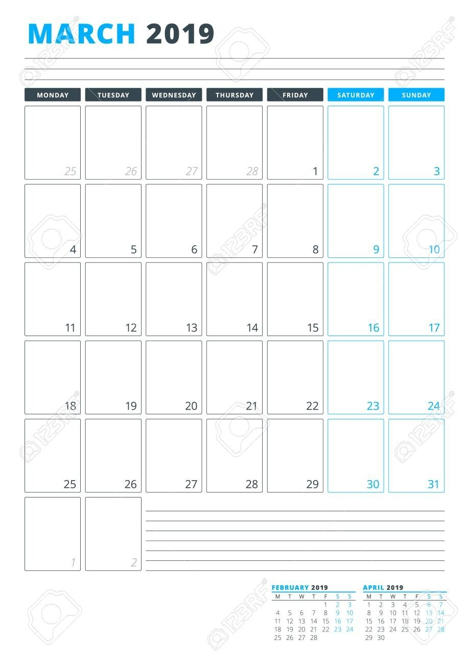 Monday Through Friday Planning Template | Calendar inside Free Monday Through Friday Calendar Template