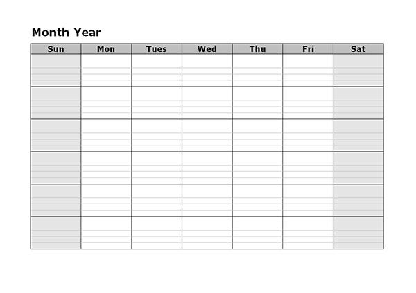 Monthly Blank Calendar  Free Printable Templates within Blank Monthly Calendar With Lines