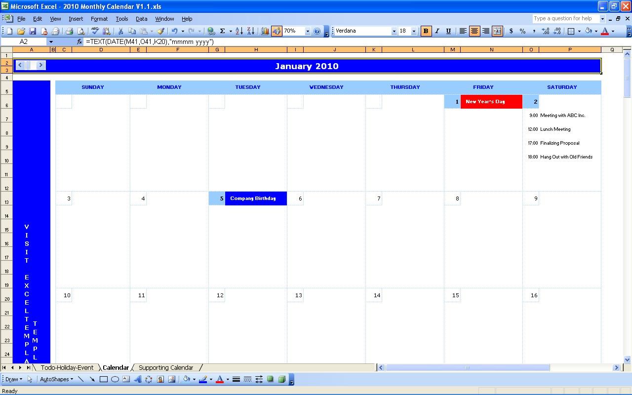 Monthly Calendar  Excel Calendars with regard to Quarterly Calendar Excel