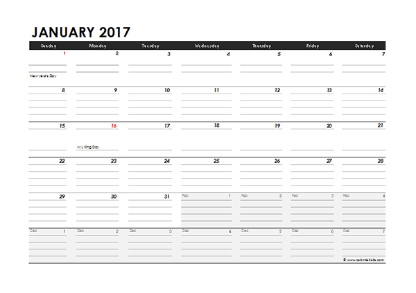 Monthly Calendar Excel Template  Printable Year Calendar inside Yearly Event Calendar Template Excel