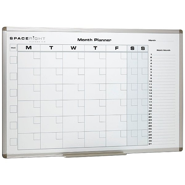 Monthly Planner Marked Magnetic Whiteboard | Specialist intended for Printed Planner Whiteboards