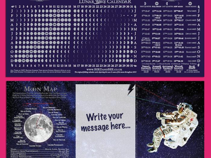 Moon Calendar Card 2018  Birdandbee Company intended for Lunar Calendar For Cockfighting 2018