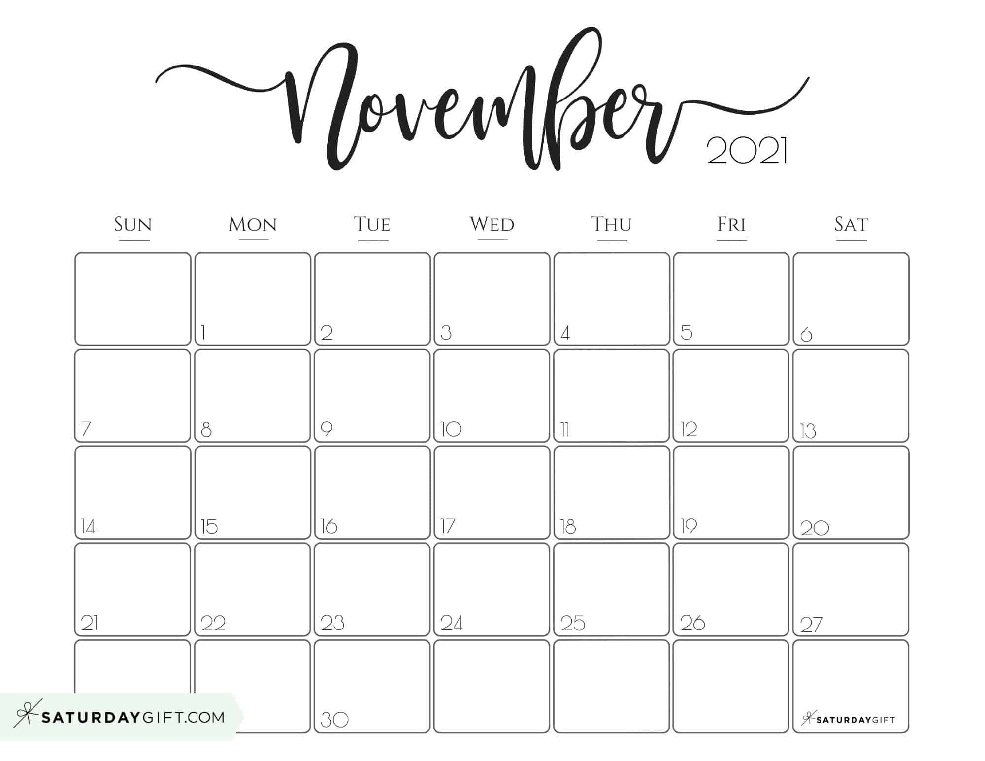 November 2021 Calendar To Print | Calendar 2021 within Malayalam Calendar 2021 November
