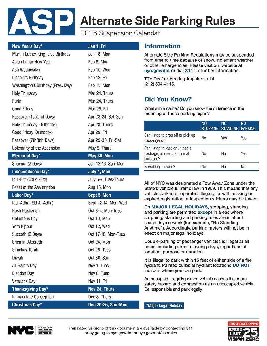 Nyc Alternate Side Parking Calendar 2020 | Calendar For within Alternate Side Parking Rules 2021 Suspension Calendar To Print