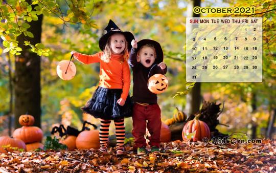 October Calendar Wallpaper  2021 throughout Khmer Calendar 2021 Wallpaper